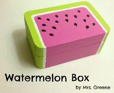 Paint a Wooden Watermelon Box