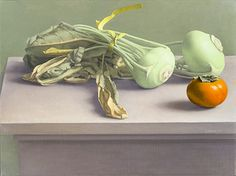 Amy Weiskopf (b. 1957) Still Life with Kohlrabi and Persimmon, 2014 Oil on linen, 12 x 16 in.