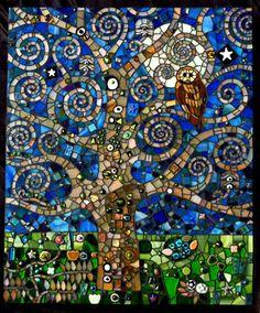 Klimt's Midnight Garden by Michelle Wilcox---via Adriana Faranda