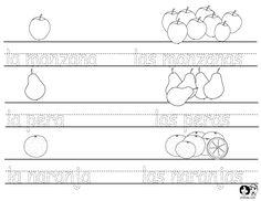 Spanish for Children - Fruit Printout