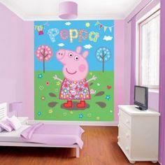 El fotomural Peppa Pig traslada las aventuras de este personaje animado a las habitaciones infantiles.