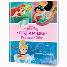 The Disney Princesses are ready to DREAM BIG with your child! Your little one will write, draw and imagine all the things they can be, led by the adventurous, independent, and loyal Disney Princesses! Personalize with their name, photo, and a special message from you!