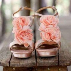 Pretty and pink flowery heels