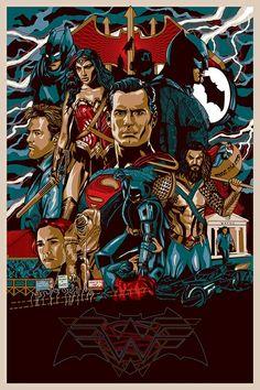 Fanmade Batman v Superman poster by Messypandas