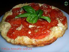 Tarte tatin tomate et chèvre