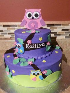 Hoot owl cake