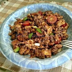 """Low Carb """"Fried Rice"""" No rice at all, made with ground beef"""