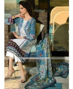 Pakistani Designer Lawn Dresses Online By HSY Ittehad