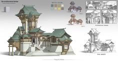 ArtStation - Ancient architectural design, G liulian