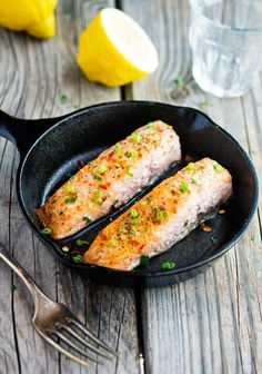 Easy Four-Ingredient Salmon #clean #recipe #healthy #recipes
