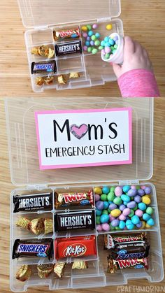 Mother's Day Tackle Box Gift Idea- mothers day emergency candy stash gift idea. Mom candy gift with small kids! Mother's Day Tackle Box Gift Idea- mothers day emergency candy stash gift idea. Mom candy gift with small kids! Diy Gifts For Mom, Diy Mothers Day Gifts, Mother Day Gifts, Gift Ideas For Mum, Cool Gift Ideas, Homemade Gifts For Boyfriend, Kids Gifts, Diy Ideas, Mothersday Gift Ideas