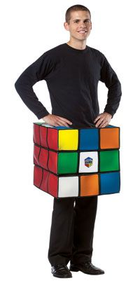 Rubik 39 s cube costume 70 39 s 80 39 s halloween costumes for Mobilya megastore last minute