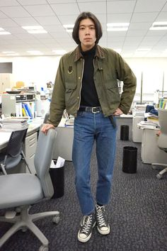 Fashion Beauty, Mens Fashion, Cool Style, My Style, Cropped Trousers, A Good Man, Male Outfits, Khaki Pants, Bomber Jacket