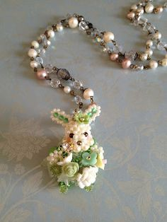 Beaded bunny in a bubble skirt