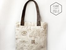 Shopper in tessuto  - tema letterahttp://it.dawanda.com/shop/isabo-borse-in-stoffa