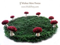 Fairy Ring Rug with Speckled Toadstool Mushrooms *Custom Sizes and Colors* : If Wishes Were Ponies, Fairy Tale Costumes for Horses and Ponie...
