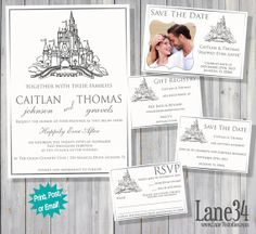Fairy Tale Cinderella Themed Wedding Invitation By Lane34Party, $25.00