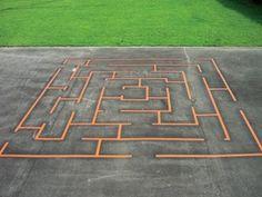 Maze for playground