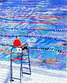 This is often how the Santa Monica and Culver City pools look when they are configured with long lanes! Painting Inspiration, Art Inspo, Art Postal, Dark Drawings, Pencil Drawings, Plakat Design, Art Plastique, Painting & Drawing, Long Painting