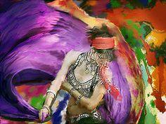purple swirly dancer
