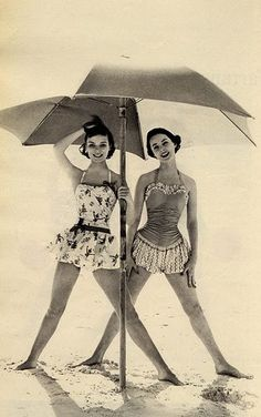 50s swimsuits with skirts