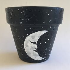 One of a kind hand painte - Deco How to Crafts Flower Pot Art, Flower Pot Design, Painted Plant Pots, Painted Flower Pots, Pottery Painting, Diy Painting, Decorated Flower Pots, Clay Pot Crafts, Diy Flowers