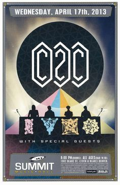 Concert poster for CD2C (Coups2Cross) at Summit Music Hall in Denver, CO in 2013. 11 x 17 inches.