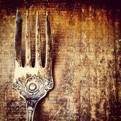 8x8 photo Mom's Antique fork wood silverware by ThickPaintWorks, $20.00