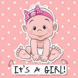 Cute baby girl cartoon - It's a Girl Baby Shawer, Cute Baby Girl, Boy Or Girl, Baby Cartoon, Cute Cartoon, Storch Baby, Little Babies, Cute Babies, Baby Girl Clipart
