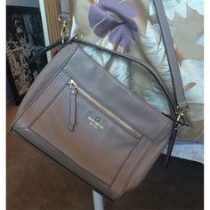{Kate Spade} Cobble Hill Harris Like new condition! Well taken care of and only used a few times. Soft pebbled leather, nude color (which matches easily with outfits), super roomy, and a great quality & sturdy cross body! You can remove cross body strap and make it into a shoulder bag. Specialty Kate Spade, not outlet purse! kate spade Bags Crossbody Bags