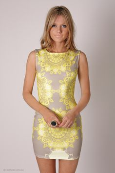 envy cocktail dress - yellow