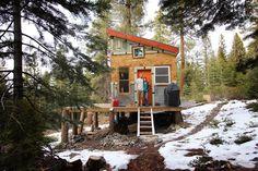 tahoe cabin interior design  | diy self sustainable micro cabin in tahoe california