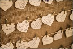 Messages from guests and best wishes on these cute paper hearts, a fantastic idea! - Wedding on Lake Atitlan Guatemala - Daniel Lopez Perez Photography