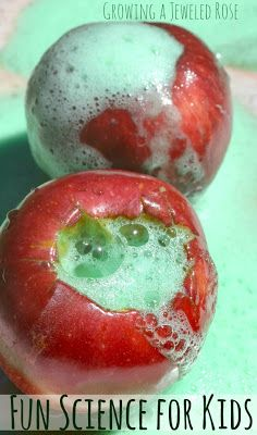 Apple Eruptions and Apple Volcanoes- a fun fall Science Activity for Kids