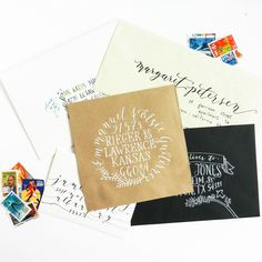 Learn 5 unique ways to address an envelope. This tutorial is inspirational whatever your skill level! Break out a pen and pretty up a mailbox today!
