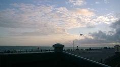 Brighton seafront. Evening skies