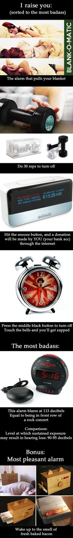 Some original alarm clocks…