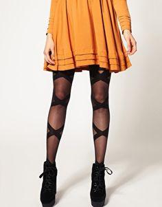 These tights with a little black dress hott hott hott!