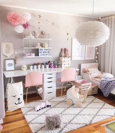 Teen girl bedrooms, totally superb teen girl room decor project number 5918993329 to think about now. Cool Girl Bedrooms, Little Girl Rooms, Trendy Bedroom, Modern Bedroom, Kids Bedroom Ideas For Girls, Room Kids, Pink Bedrooms, Bedroom Decor For Kids, 10 Year Old Girls Room