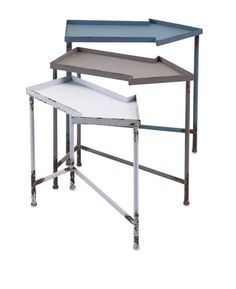 IMAX Arrow Nested Tables - Set of 3 - Point to your creative side with this nested set of three arrow tables in a weathered blue, gray and white finish.
