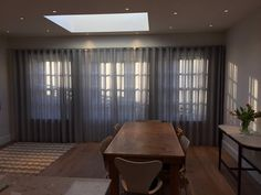 Curtains for bifold doors. Window Treatments for Bifold Doors.