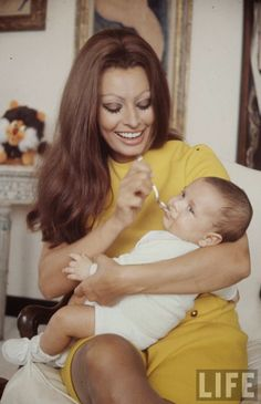 Sophia Loren and Baby, 1969 by Alfred Eisenstaedt