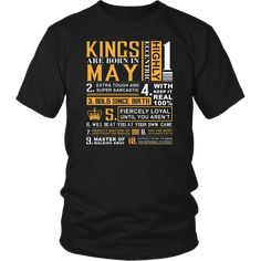 a8739fef4 77 Best Kings are Born In May T-Shirt images | T shirts, Birthday ...