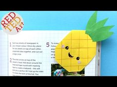Easy Pineapple Bookmark Corner DIY - Kawaii Paper Bookmark Ideas - YouTube