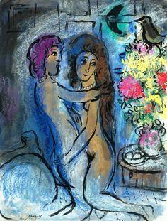 Marc Chagall「Le Couple Bleu」(1950)