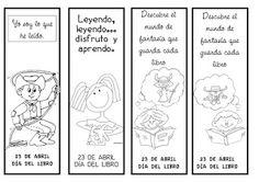 Material de Isaac para Educacion Especial: MARCAPAGINAS PARA EL DIA DEL LIBRO