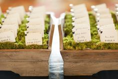 What a cute idea for escort cards!