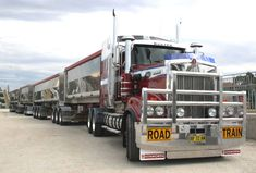 australian trucks - Kenworth Road Train