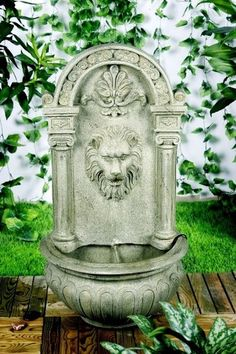 Classic Lion Solar On Demand Outdoor Wall Water Fountain-Earth White Tone http://www.ebay.com/itm/Classic-Lion-Solar-Demand-Outdoor-Wall-Water-Fountain-Earth-White-Tone-/261049304867?pt=LH_DefaultDomain_0=item3cc7c04723