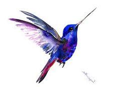 Flying Hummingbird, 12 X 9 in, original watercolor painting, flying bird art minimalist blue art by ORIGINALONLY on Etsy Watercolor Hummingbird, Hummingbird Art, Watercolor Bird, Watercolor Paintings, Hummingbird Pictures, Flying Tattoo, Underwater Painting, Bird Sketch, Bird Silhouette